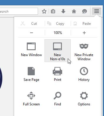 New Non-e10s (Windows)