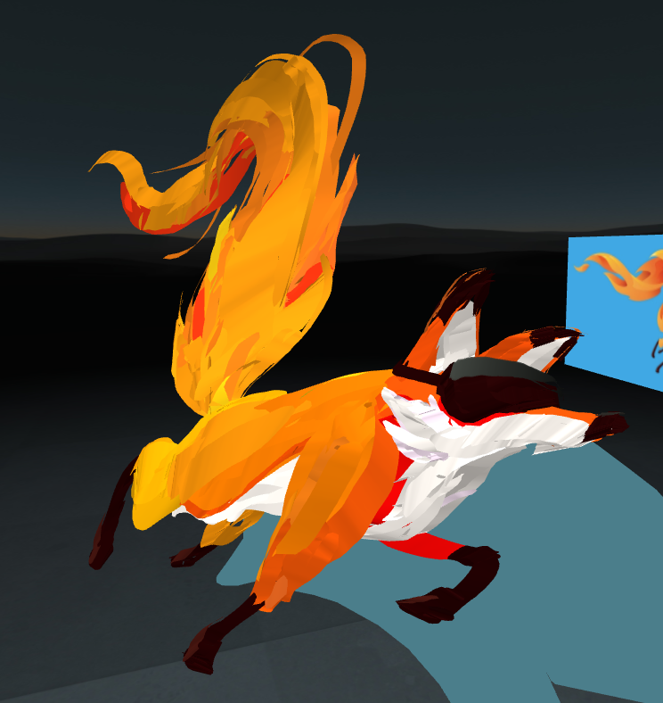 Screenshot of Mozilla VR fox in A-Painter
