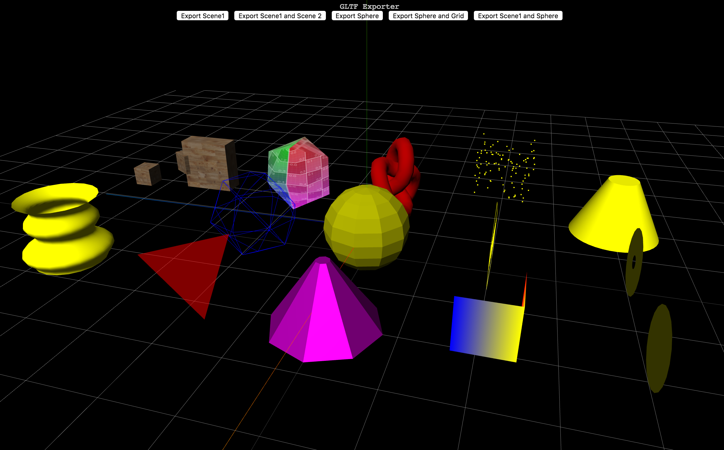 glTF Exporter in three.js and A-Frame