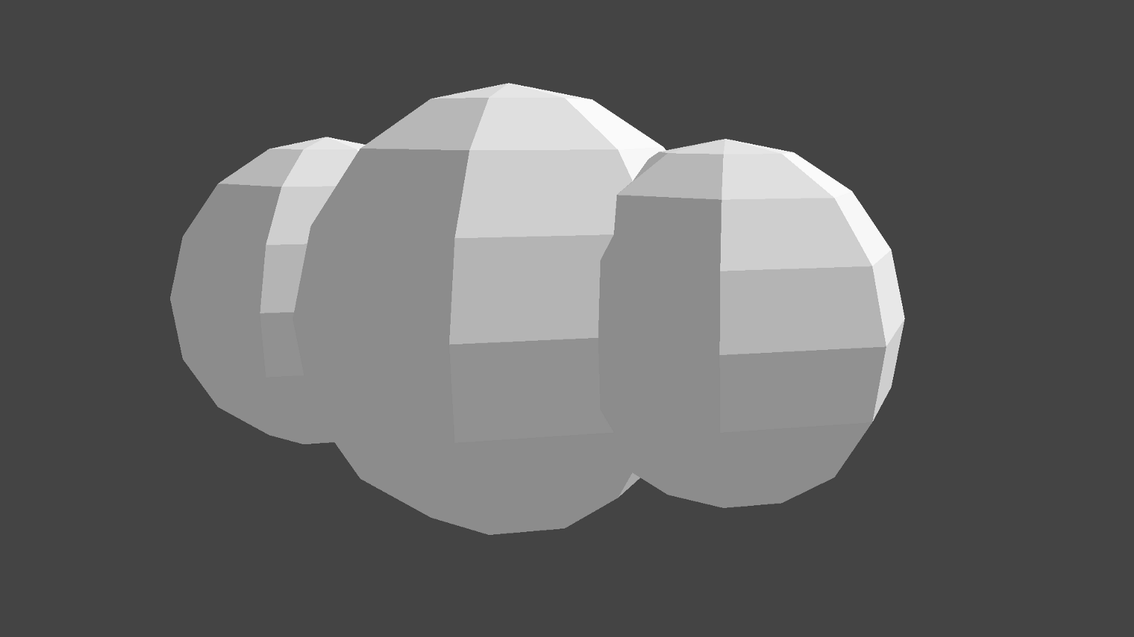 Low Poly Cloud from Spheres