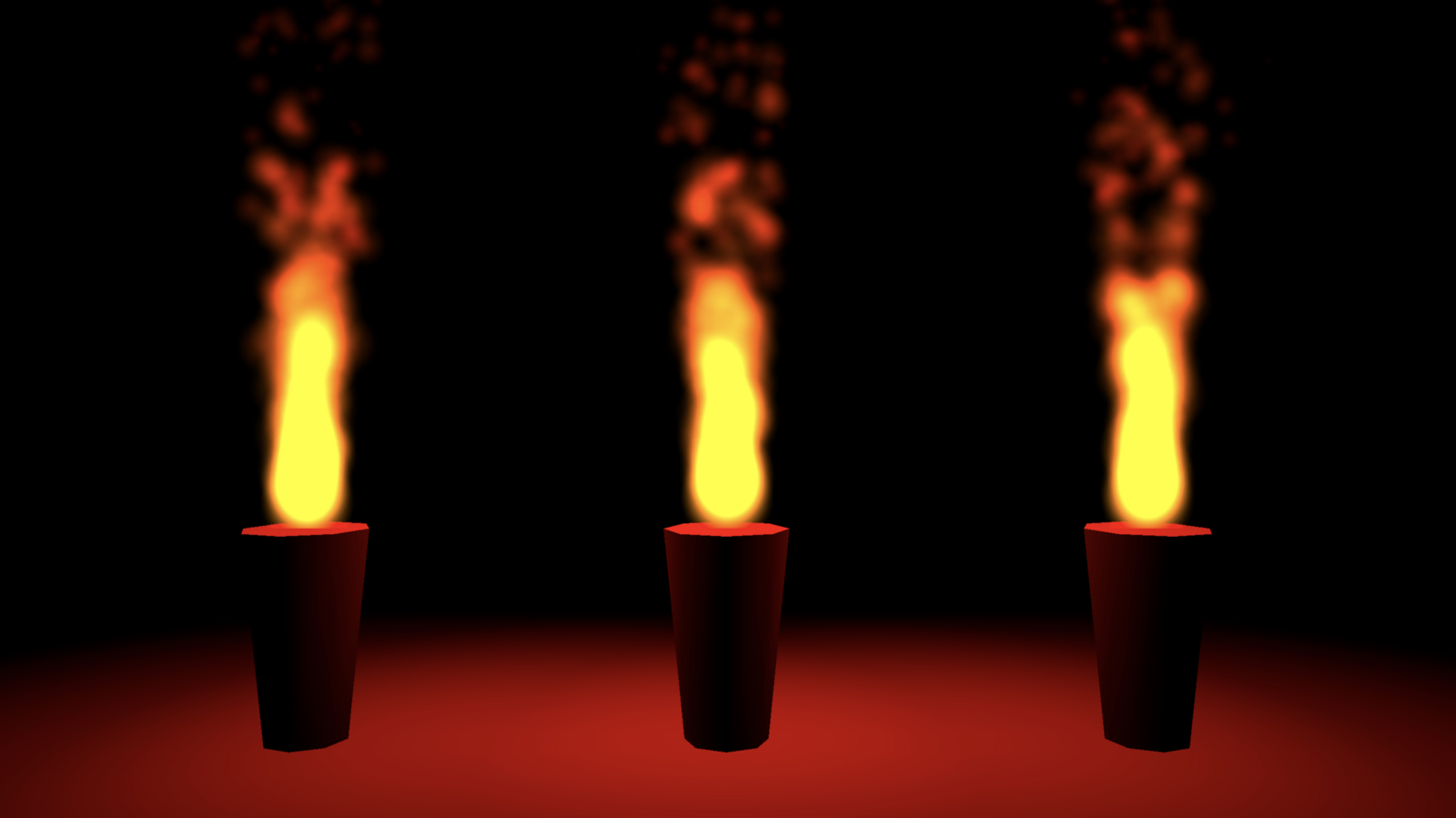 Bigger flame particles