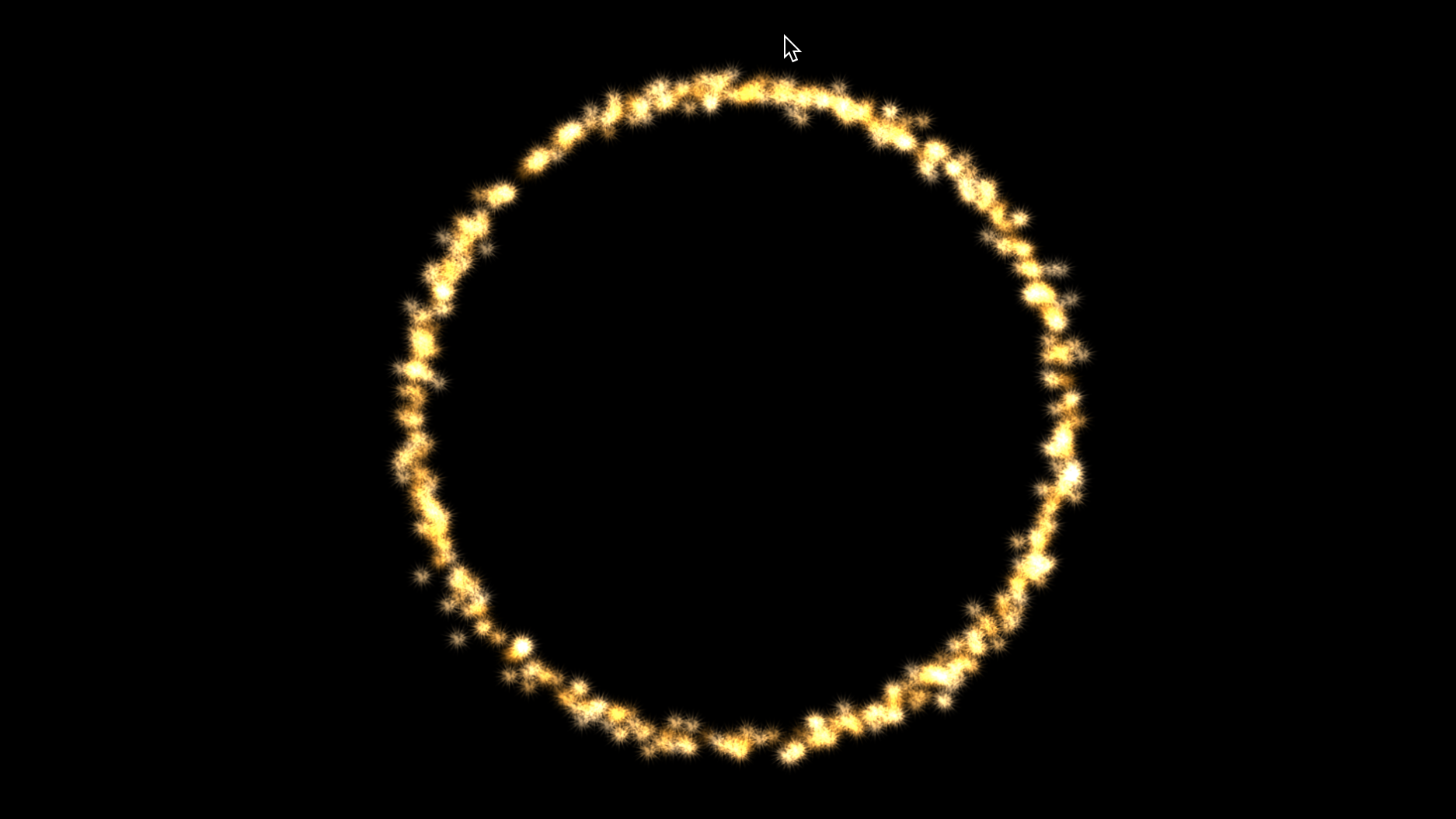 a ring shaped sparkler