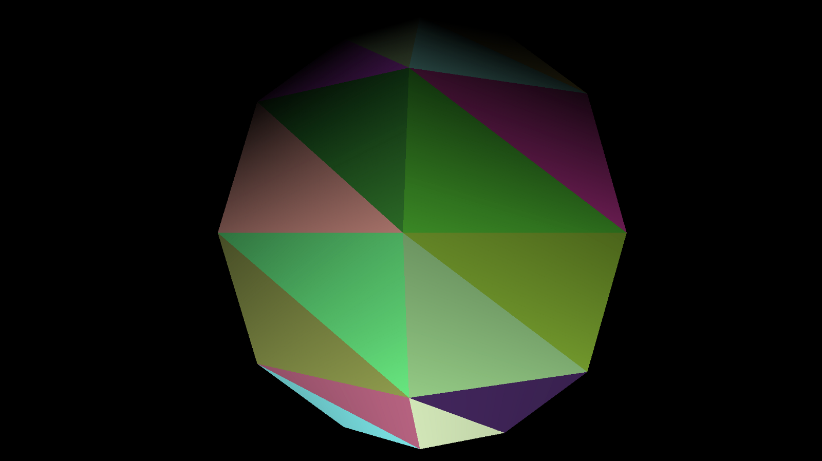 Sphere with Random Colored Faces
