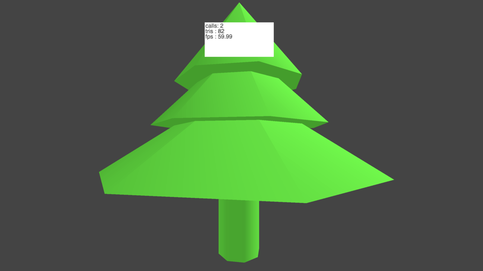 Tree with merged geometry