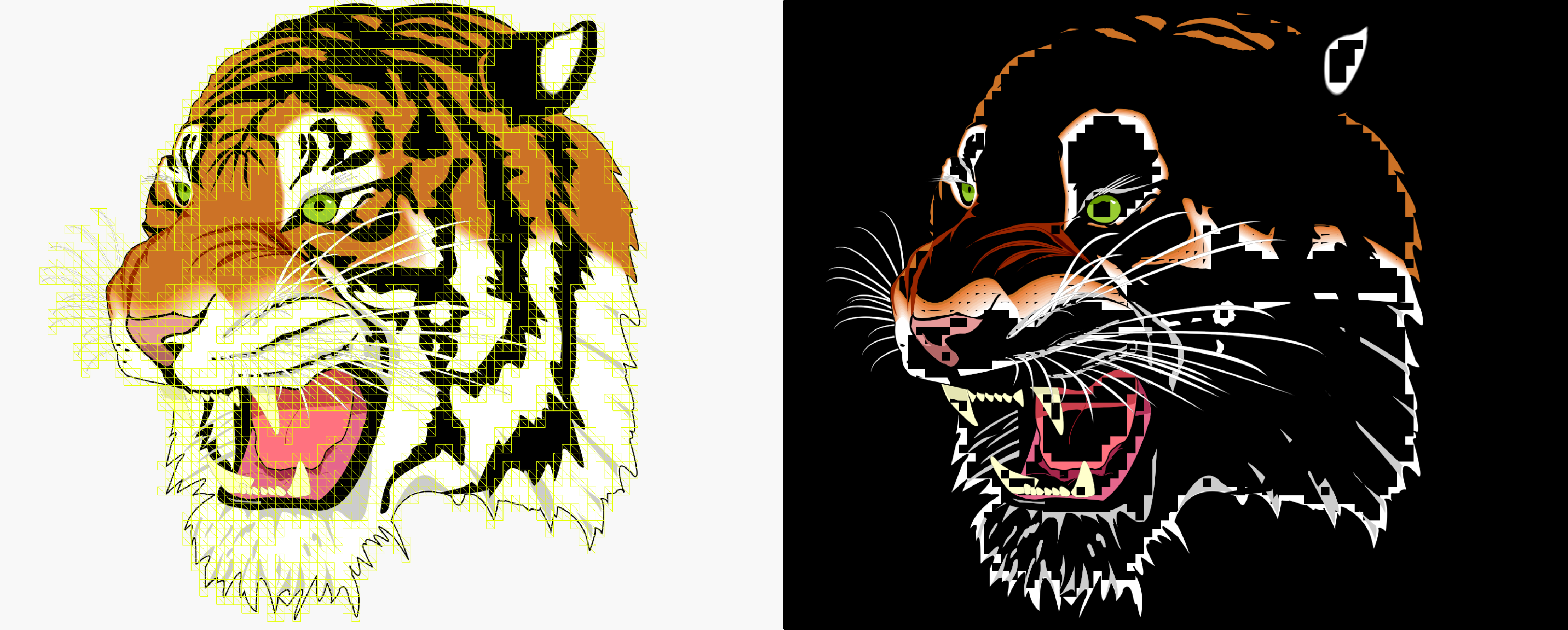 How Pathfinder renders the GhostScript Tiger